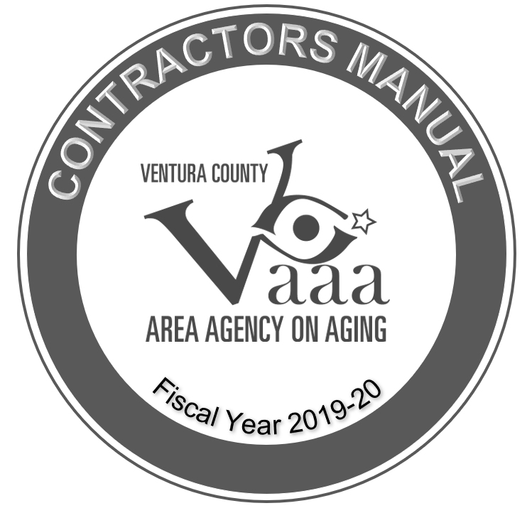 Contractors Manual VCAAA Fiscal Year 2019-20
